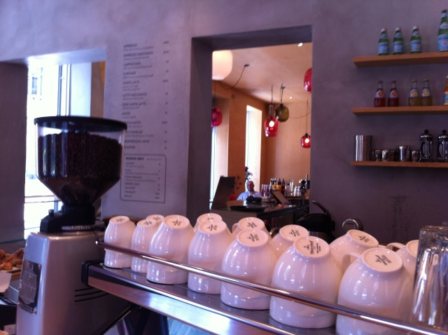 The coffee counter